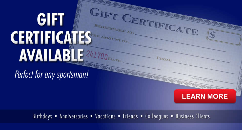 Gift Certificates for Guided Fishing Trips on Table Rock Lake or Lake Taneycomo